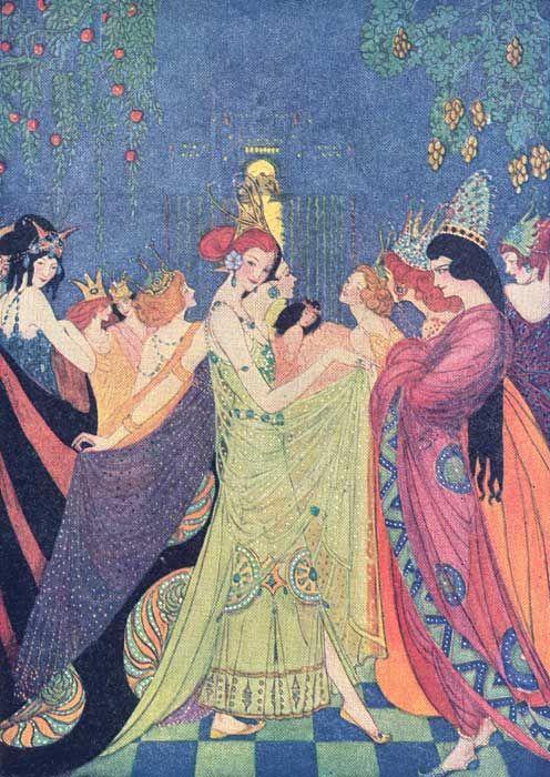 """The Twelve Dancing Princesses.""  Abbott, Elenore. Grimm's Fairy Tales. New York: Charles Scribner's Sons, 1920."
