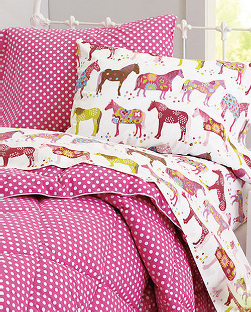 the cutest bedding for horse obsessed kids