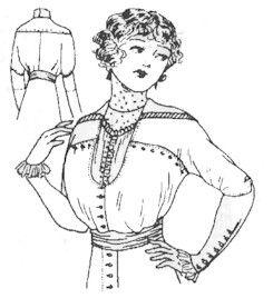 Patron de blouse 1910-1914