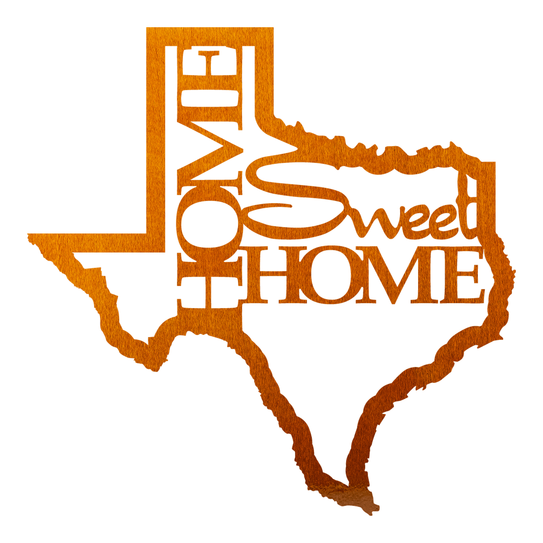 Texas Home Sweet Home Sign - Copper / 12\