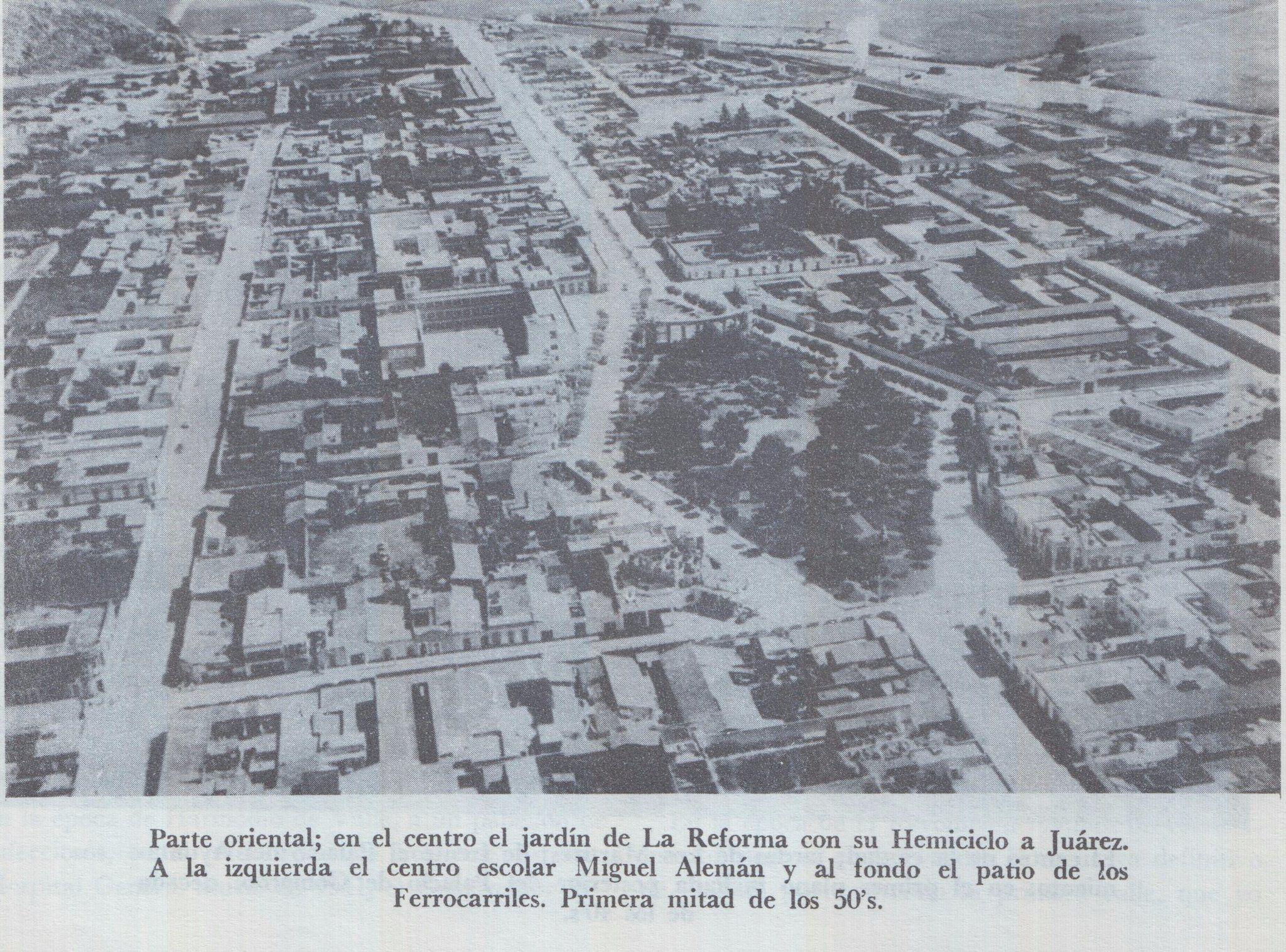 Vista aérea del Jardín Reforma