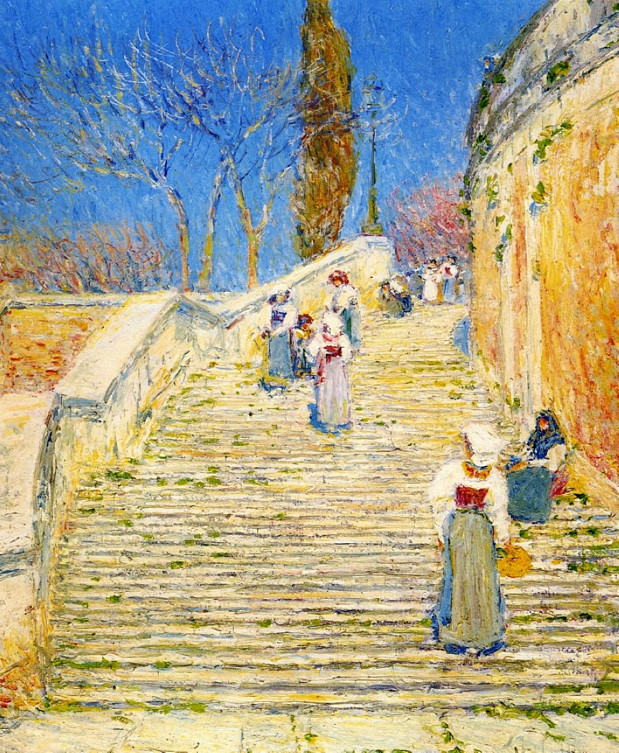 Perfect Childe Hassam   Piazza Di Spagna, Rome   1897 (See Also Spanish Stairs)