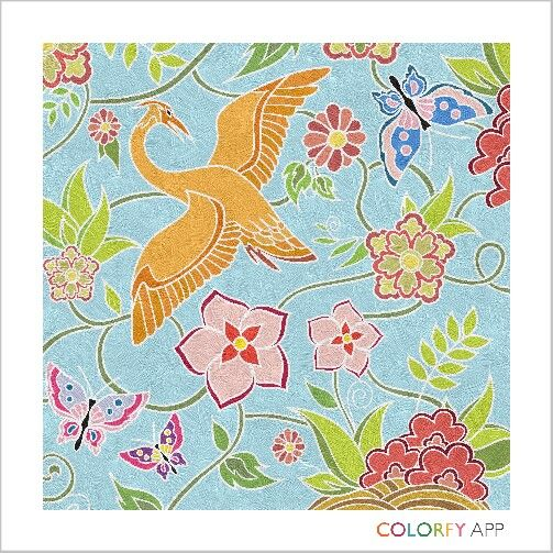 Coloring Pictures Of Animals And Flowers : Colorfy #coloring #for #adults #animals #flowers icolor