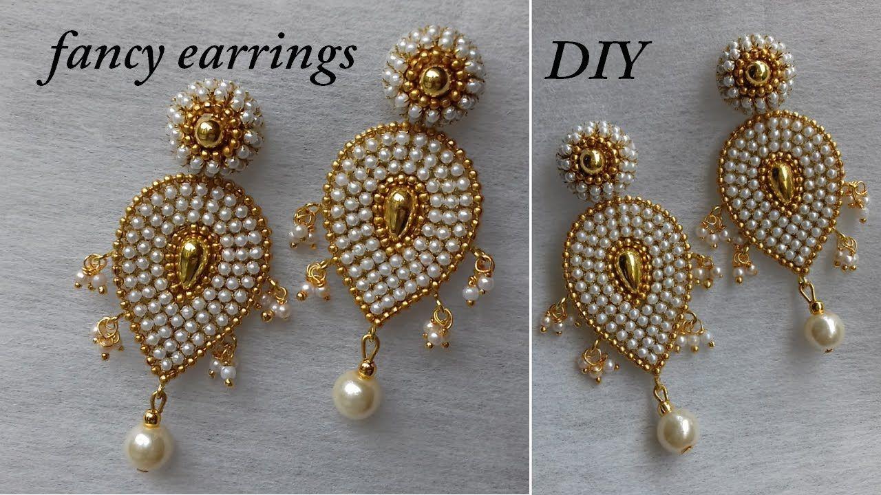 DIY How to make designer paper earrings at home fancy designer