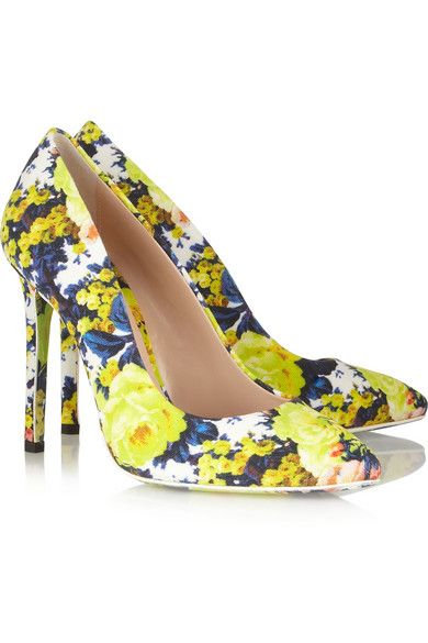 040e513f6778 MSGM floral-print canvas pumps