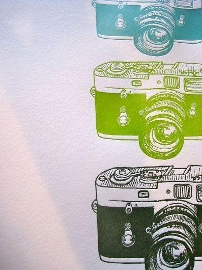 Lovely letterpress leica cameras by bittersugar on Etsy