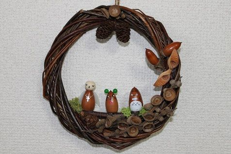 Totoro wreath..love!