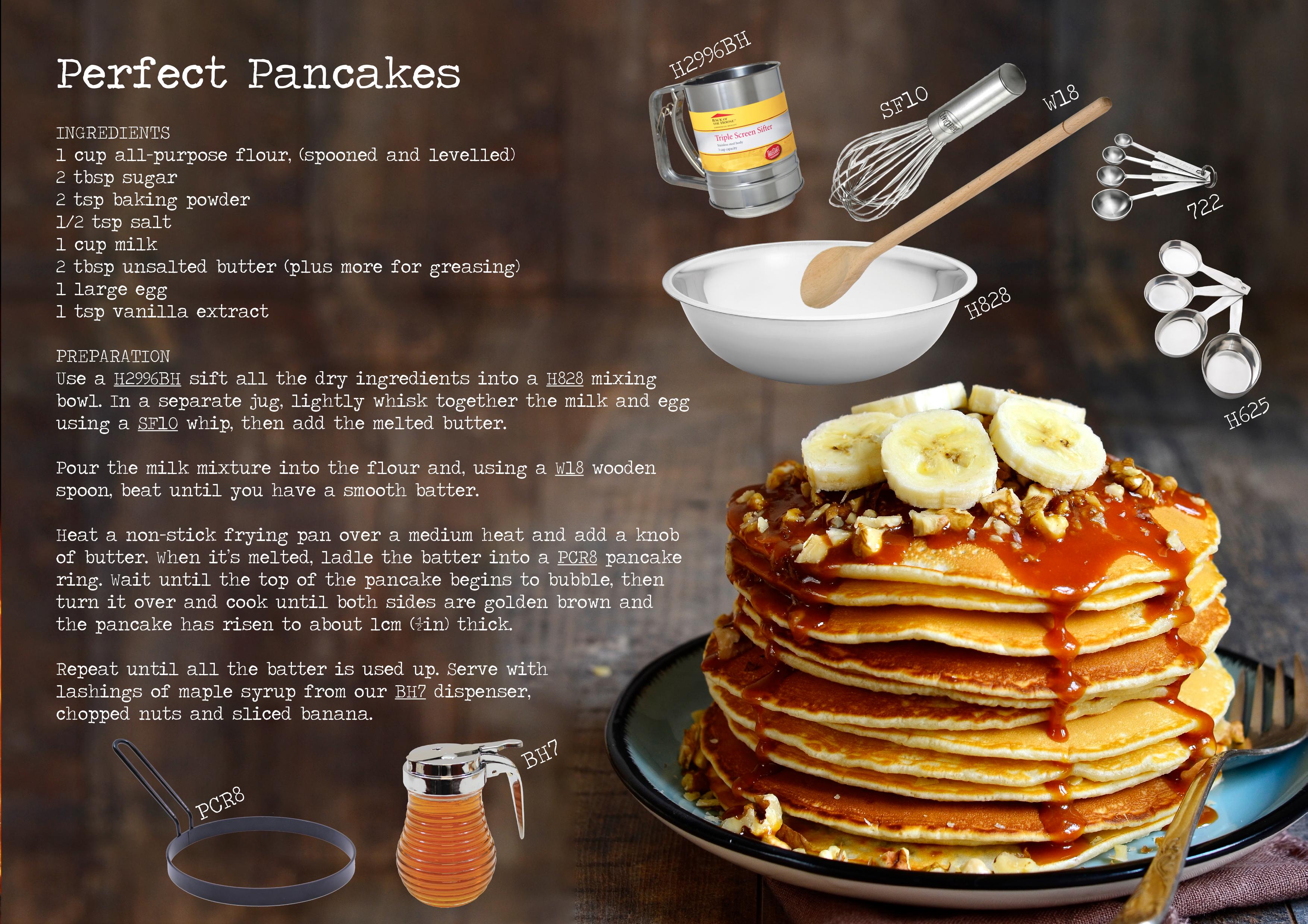 Perfect Pancakes Recipe Perfect Pancake Recipe Perfect Pancakes Yummy Food