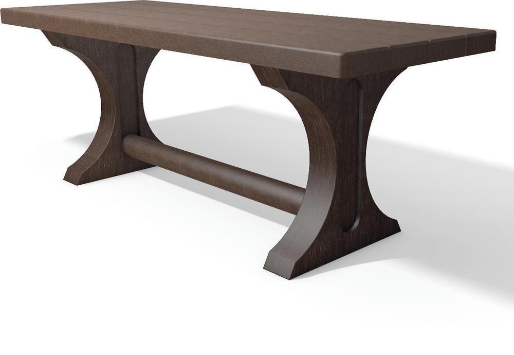 Tisch Trinity Gartentisch Aus Recycling Kunststoff Farbe Braun Aussentische Farbe Fur Kunststoff Gartentisch
