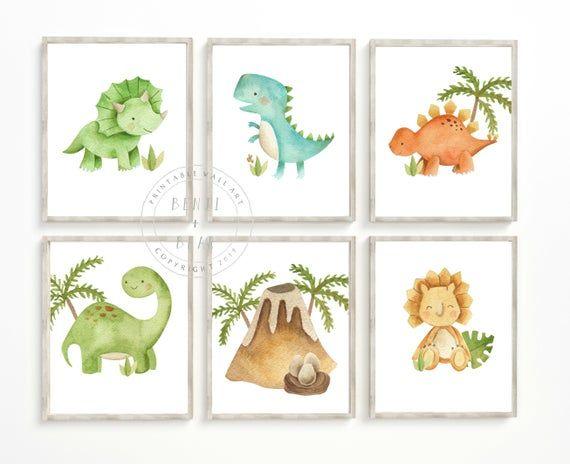 Dinosaur Nursery Print, Dinosaur Nursery Decor, Boy Wall Art, Boy Nursery Print, Dinosaur Print, INSTANT DOWNLOAD