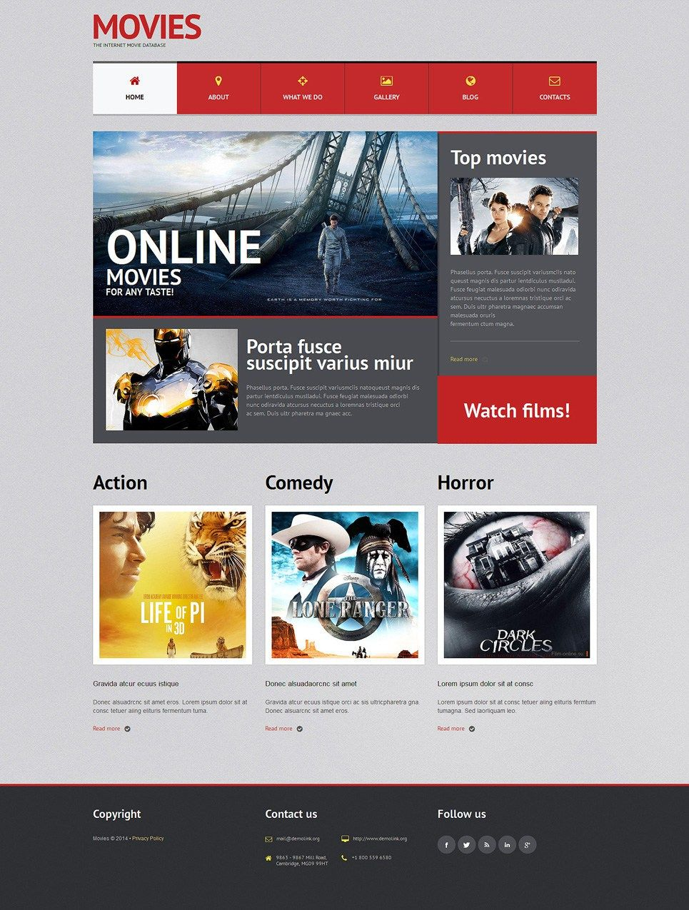 Be Kind Rewind With These Movie News Streaming Site WordPress Themes Cinematique Template Item Picture