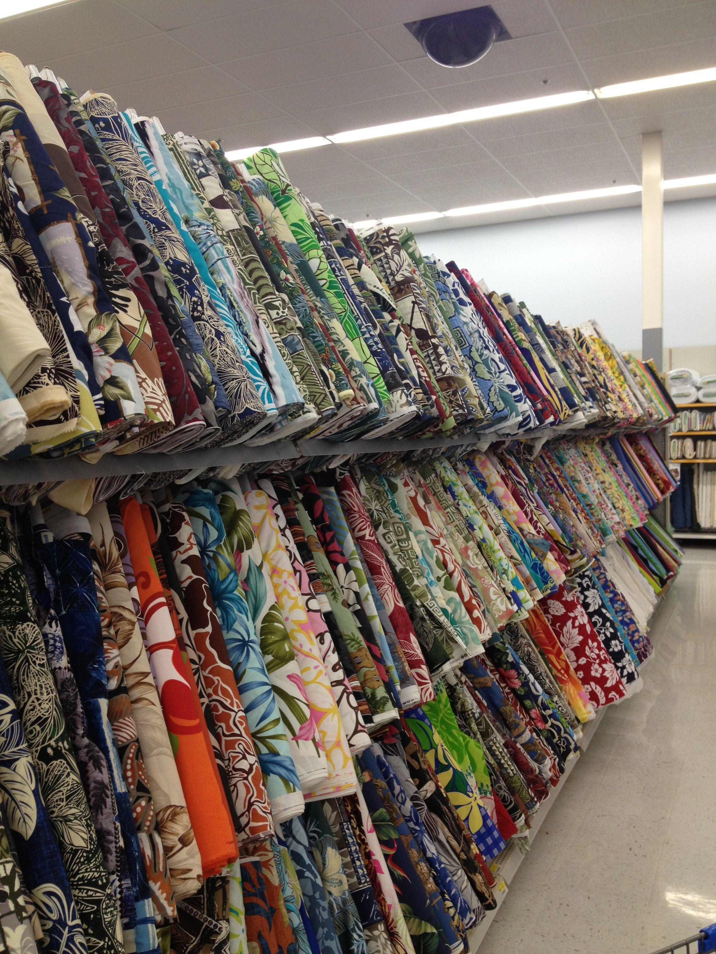 Hawaiian Fabric Selection, Walmart in Lihue, Kauai   craft ...