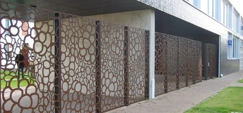Modern Mashrabiya As Outdoor Partition