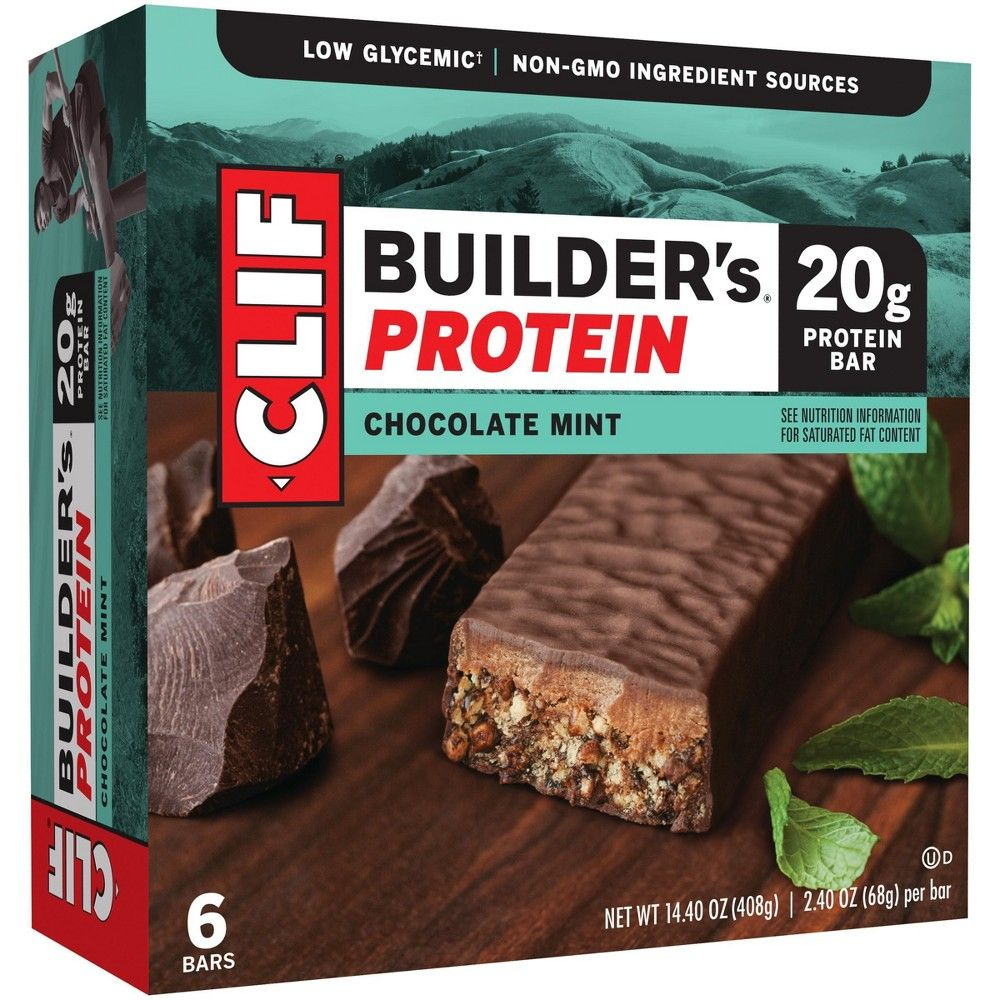 Clif Builder S Protein Bar Chocolate Mint 6ct Mint Chocolate Mint Bar Protein Bars