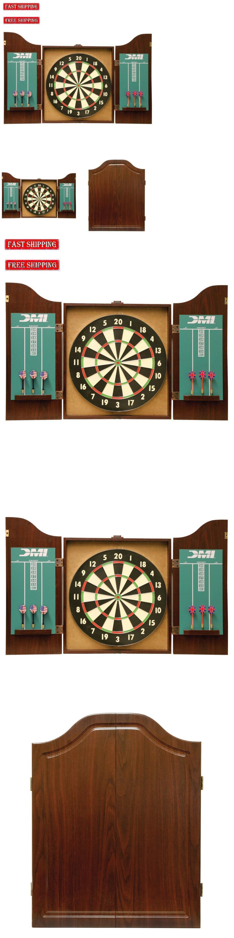 Dart Boards 72576: Professional Dart Board Cabinet Style Set Solid ...