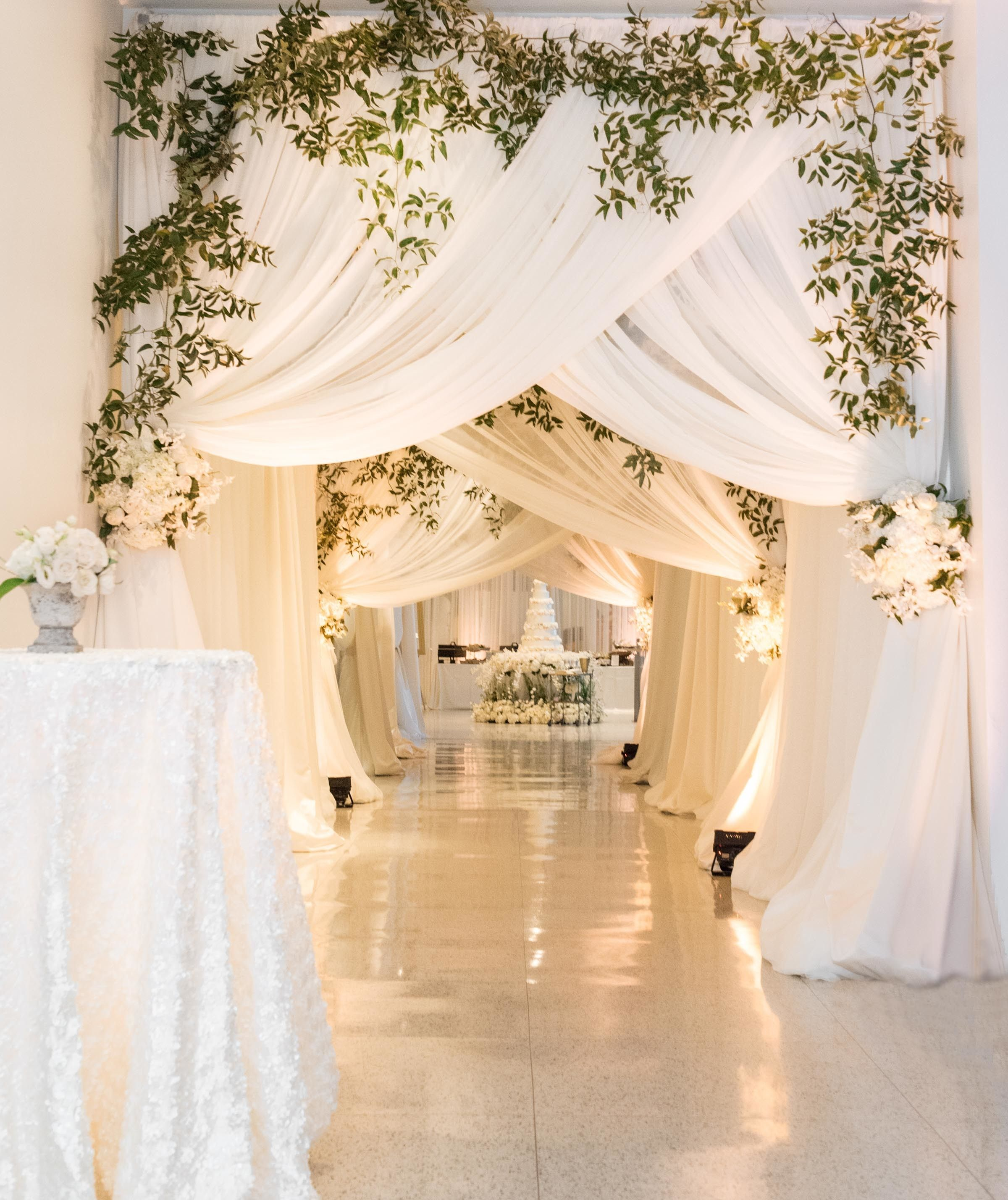 Guests were met with this beautiful sight once they made their way into the reception space