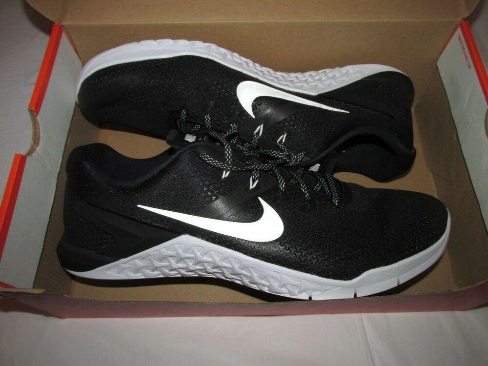 eefc3d001517 Nike Metcon 4 Mens CrossFit Training Shoes 15 Black White  Nike   RunningCrossTraining