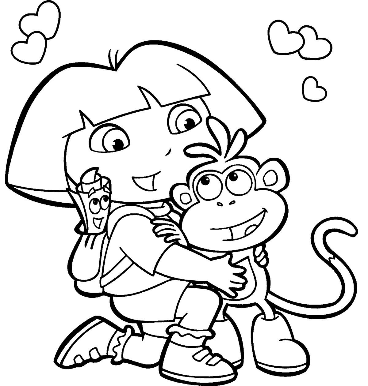coloring pages with dora - photo#24
