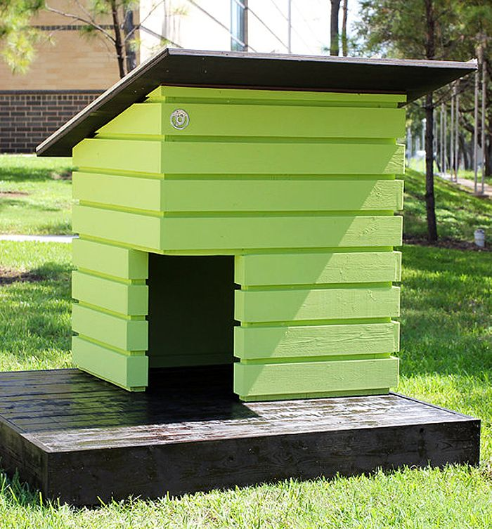 Check out these stylish dog houses that will fit right in with
