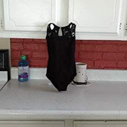 68b26767109f Amazon.com: Gsha Girls Sleeveless Lace Ballet Dancewear Leotard Gymnastics  Tops Costumes Black 110
