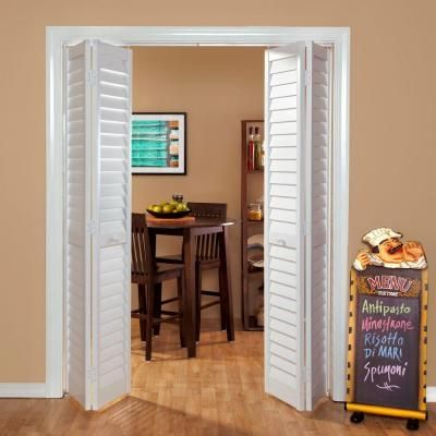 Wood Classics 3 In Louver Louver White Composite Interior Bi Fold Closet Door 7301880100 At