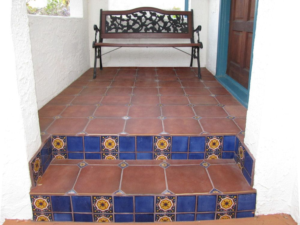Mexican Tile Combined With Terracotta Floor Tile Beautiful Way To