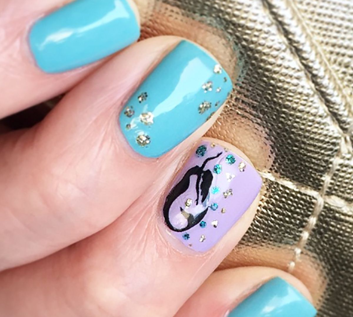 Mermaid Swimming Nail Decals - 48 decals (5 1/2\