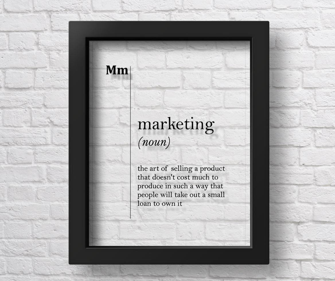 TRANSPARENT Marketing Definition Print Advertising Office ...