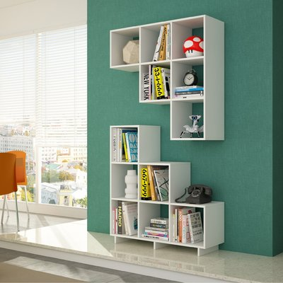 Latitude Run Cleo Step Bookcase Step Bookcase Home Office Furniture Shelves