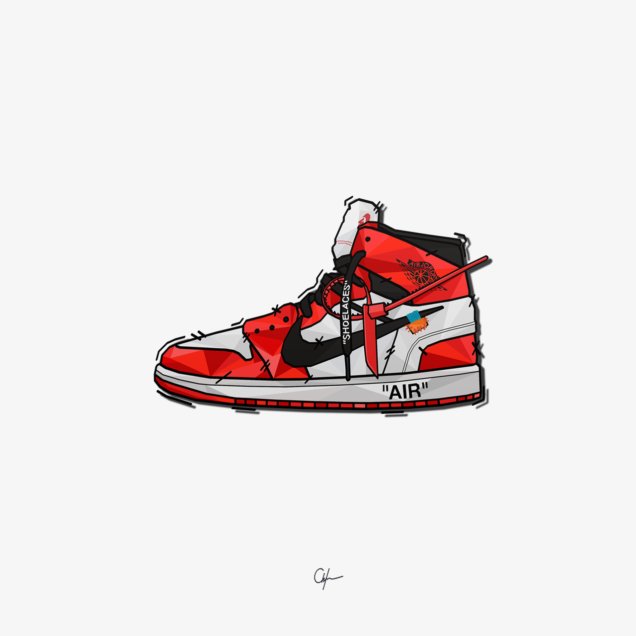 Younmarx — Nike Air Jordan x Off White  younmarx  34b5dd46b1a8