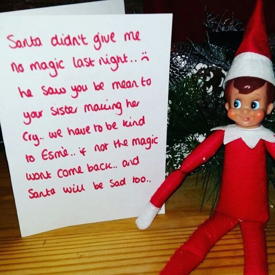 100+ Elf on the Shelf Ideas for Kids With Messages Which Kids Are Gonna Love - Hike n Dip #naughtyelfontheshelfideas