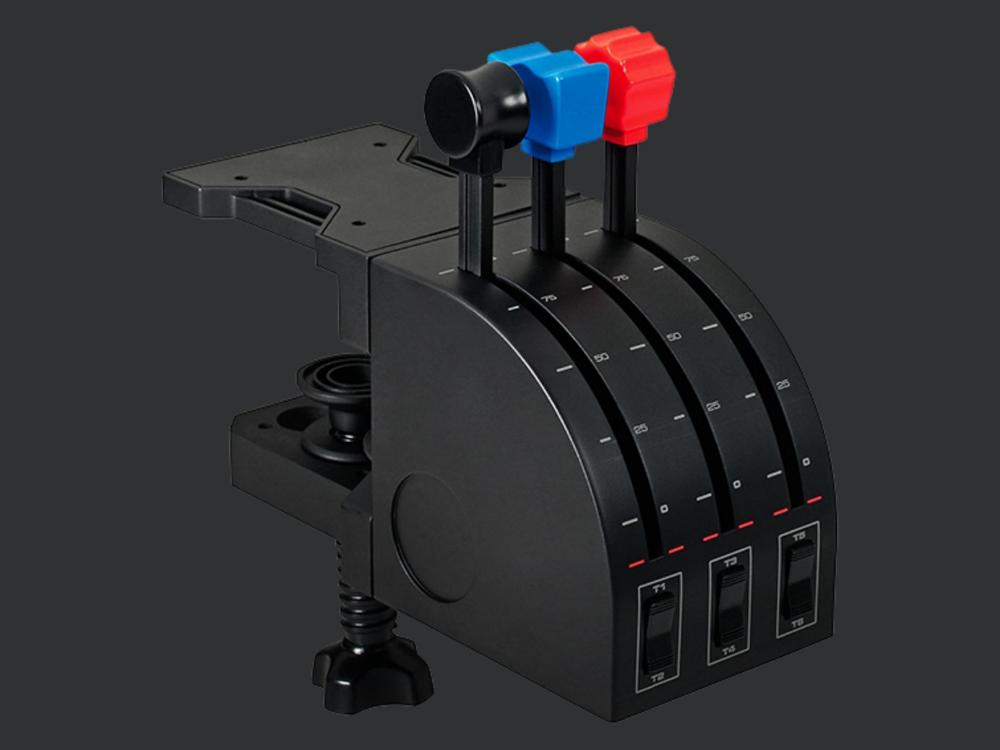 Logitech G Flight Simulator Throttle Quadrant for Multi