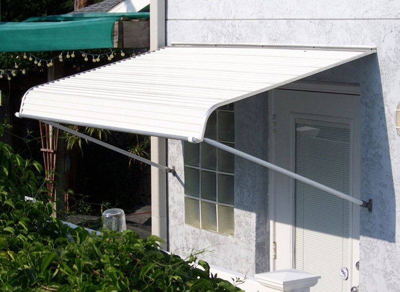 1100 Series Door Canopy With Support Arms Aluminum Awnings Door Canopy Door Awnings