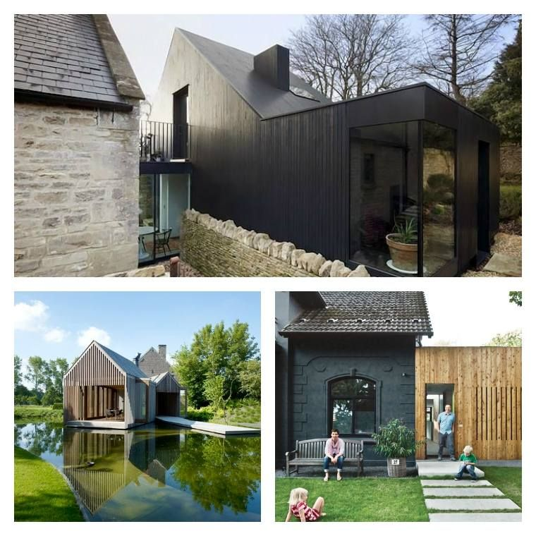 Extension maison bois moderne et fonctionnelle for Agrandissement maison 69