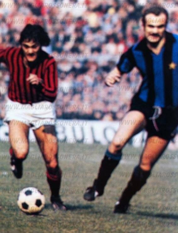 Inter Milan 0 AC Milan 2 in March 1973 at the San Siro. Giuseppe Sabadini f74845f41c06