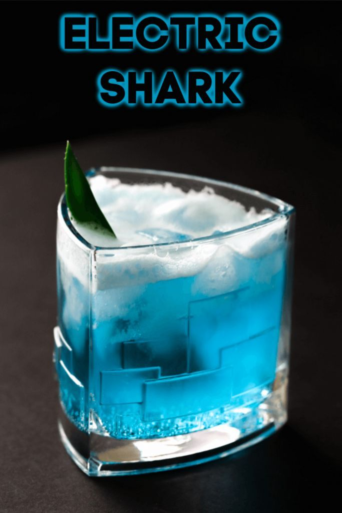 Electric Shark Cocktail #cocktaildrinks