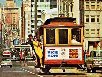 Image result for cable car san francisco rice a roni