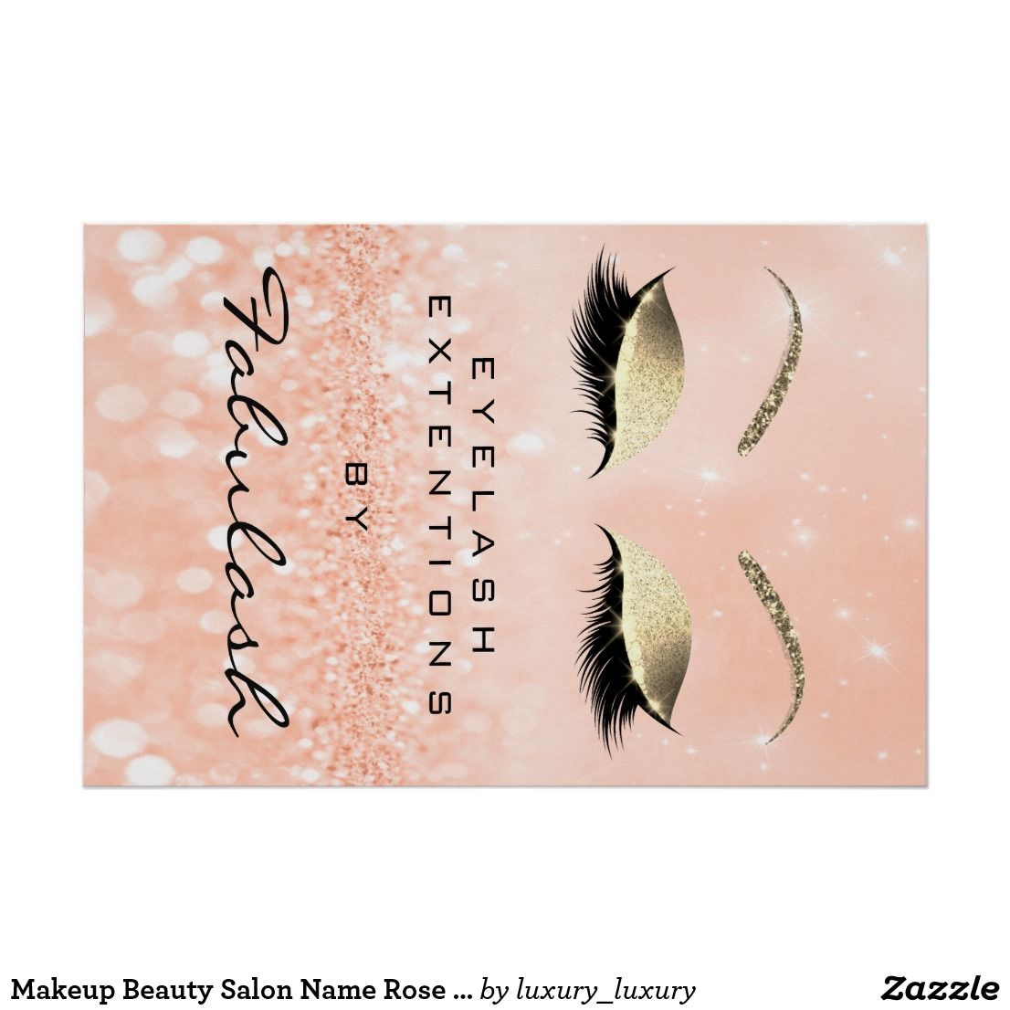 Beauty hair Salon Makeup and Feathers Poster