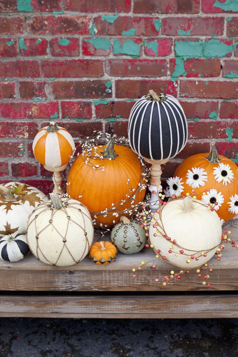 Easy NoCarve Pumpkin Ideas Cute halloween decorations