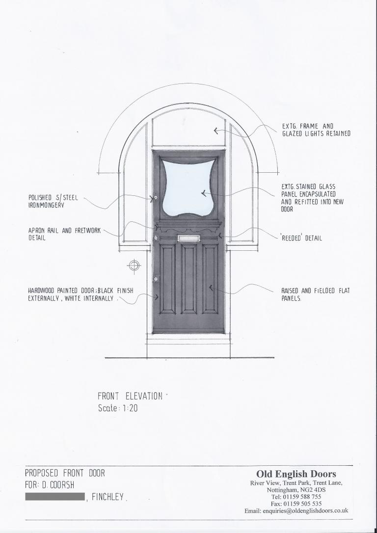 Front Door Drawing door design service • custom doors designed & made to order | scale