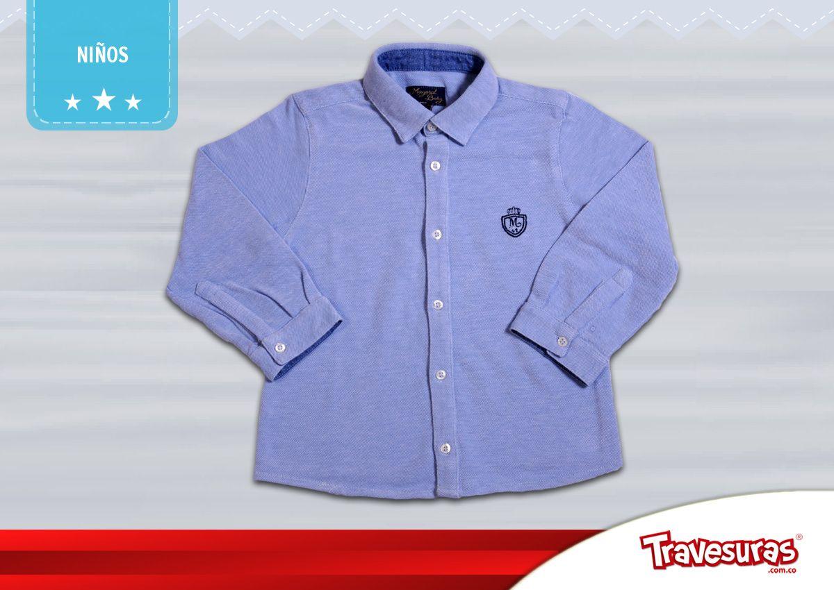 Colección fin de año 2015 - camisa manga larga niño. Más información en www.travesuras.com.co