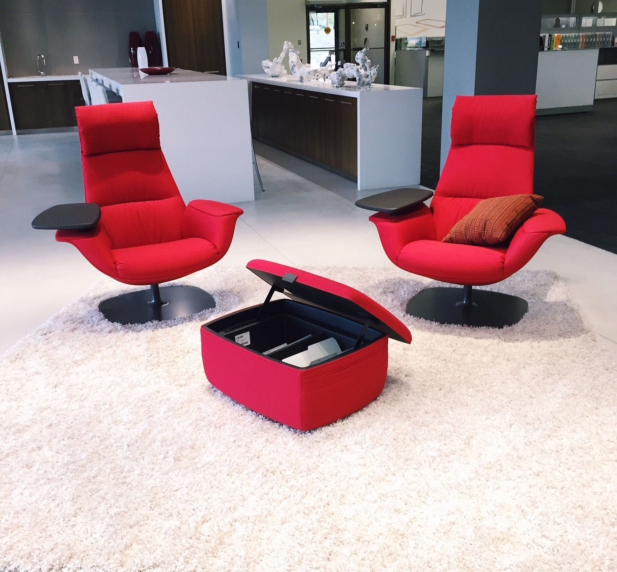 Coalesse Massaud Lounge Chairs And Ottoman Rgo Office