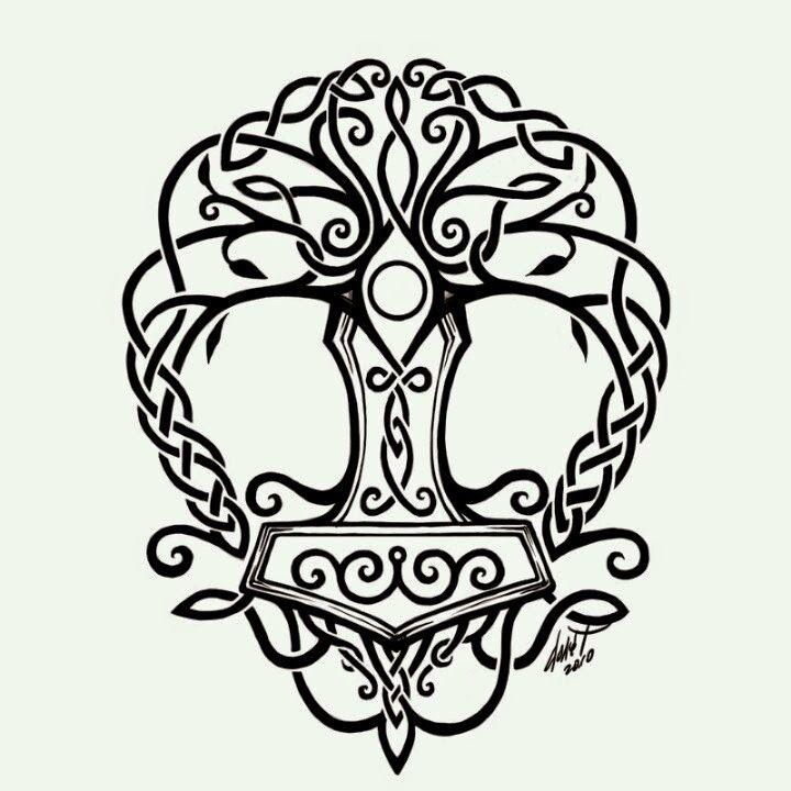 Arbol De La Vida Celta Buscar Con Google Tatuaje Céltico Tatuaje De Martillo Tatuaje Del Martillo De Thor