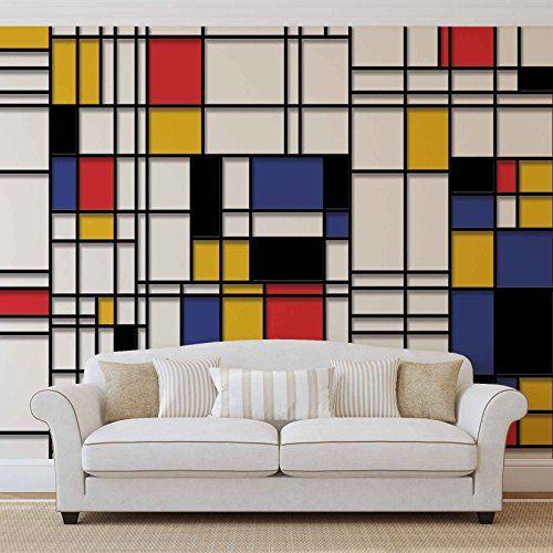 Mondrian Moderne Kunst Forwall Fototapete Tapete