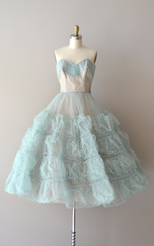 Vintage s dress s dress permafrost tulle dress tulle