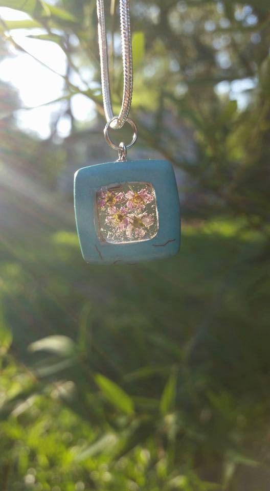 Flower Necklace by SeasonalRemedies on Etsy