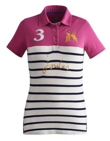 87ee049b550fa4 Joules Womens Polo, Navy Stripe. Our classic polo shirt has earned its  stripes. Bursting with brightness and made to add a fresh feel to any look.