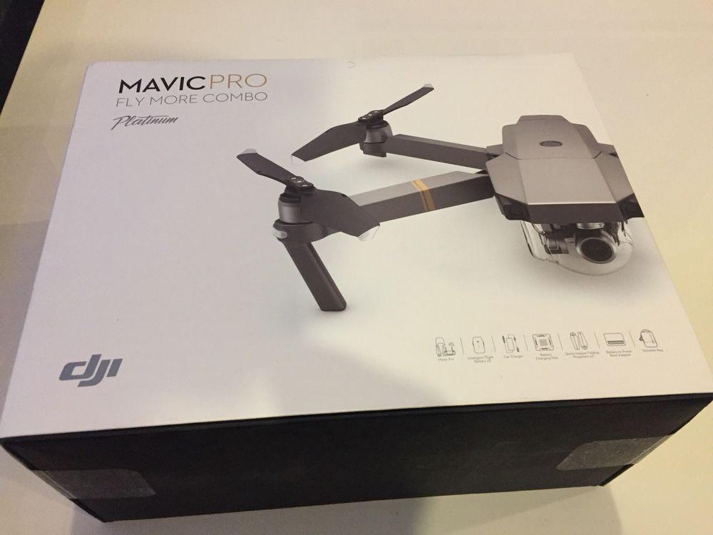 d60c9032bc5 DJI Mavic Pro Platinum Drone - Fly More COMBO - 4K Stabilized Camera NEW