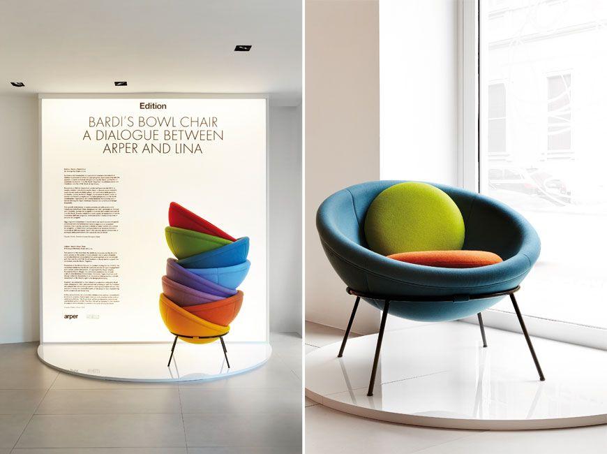 Arper bardi 39 s bowl chair di lina bo bardi furniture for Lina bo bardi bowl