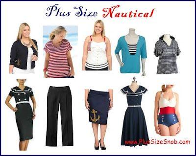 Plus Size Nautical | Plus Size Clothing | Nautical outfits, Plus ...